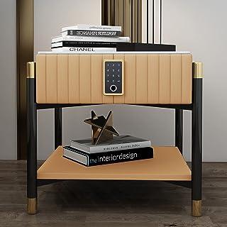 Tables De Chevet Square Touch - Armoire De Rangement Sécurité Intelligente,Table D'appoint/Basse Multifonction avec Tiroir...