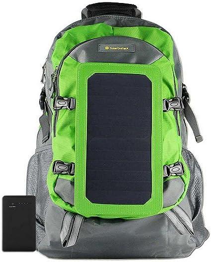 SolarGoPack Solar Powered Backpack with 7 Watt Solar Panel and 10K mAh Charging Battery