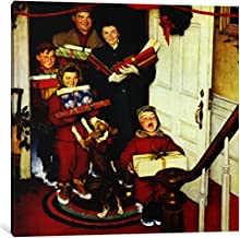 iCanvasART 1-Piece Merry Christmas Grandma.We Came in Our New Plymouth! Canvas Print by Norman Rockwell, 12