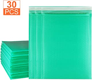 30 Pcs of 10.5 x 16 inch Large Poly Bubble Mailers, Abuff #5 Self Seal Teal Padded Envelope Mailers, Waterproof Mailing Envelopes with Peel-N-Seal