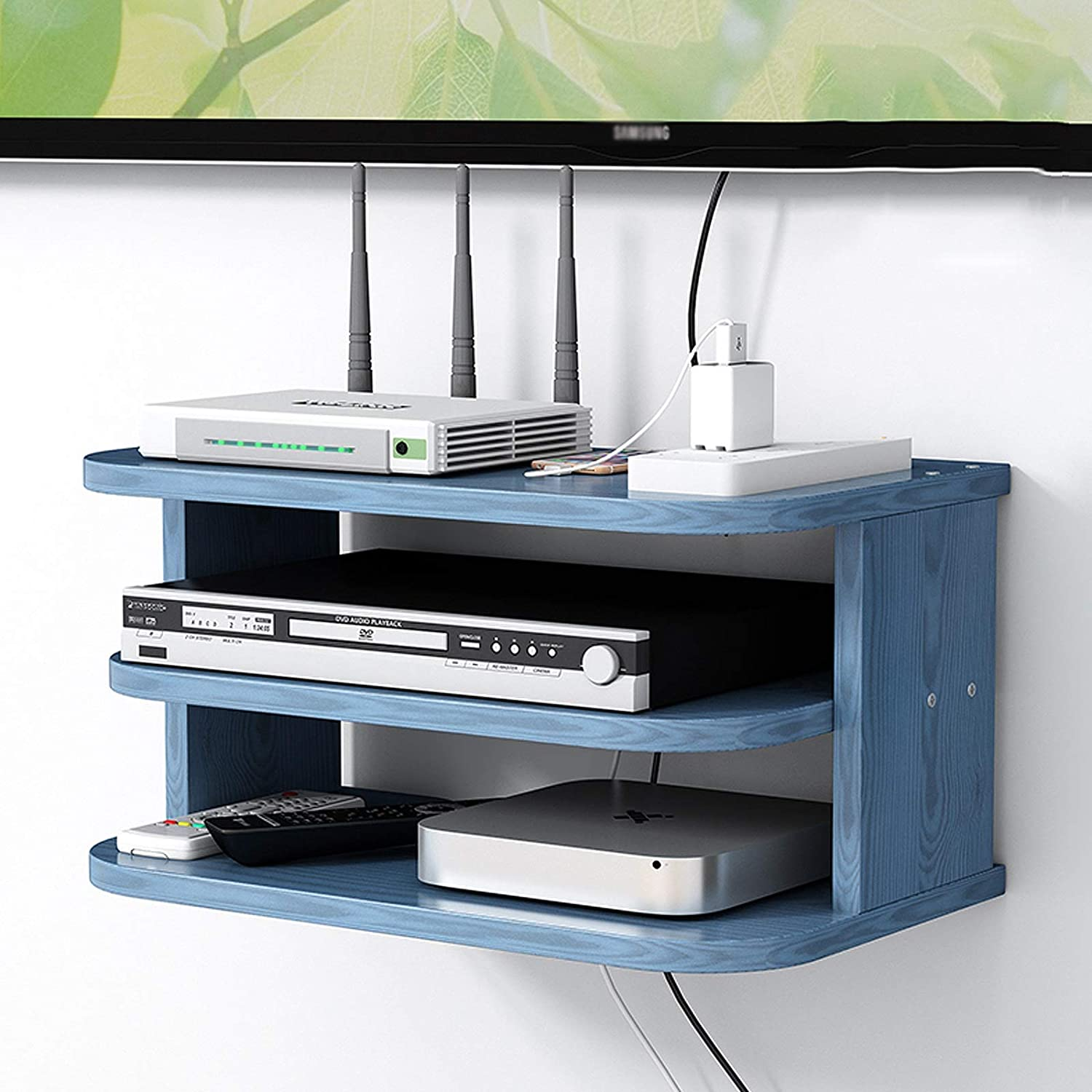 JF-TVQJ 3 Tiers TV Console Router Ranking TOP11 She Direct stock discount Shelf Wall Mount Floating