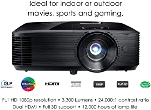 Optoma HD243X 1080p Projector for Movies and Gaming, Super Bright 3300 Lumens, Long..
