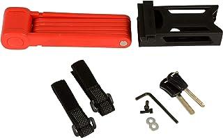 Fischer – Candado Plegable, Longitud 85 cm con Soporte, Color Rojo, Unisex, Faltschloss, Rojo, 85