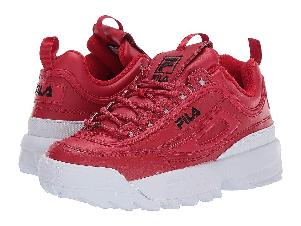 Fila Disruptor II Premium (Fila Red/Black/White) Women
