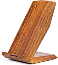 GreatCool Wood Grain Wireless Charger Qi 10W Fast Charging Pad Stand Compatible with Apple iPhone XS Max Xr X 8 Plus, Samsung Galaxy S9 Plus S8 Plus S7 S6 Edge Note 9, HUAWEI Mate 20 Pro and More
