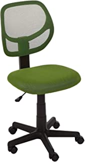 AmazonBasics Mesh Low-Back Computer Task Office Desk Chair with Swivel Casters, GF-50201M-1, Green, H38.19 x W17.72 x D18....