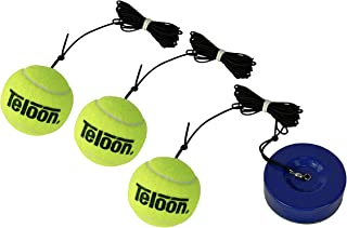 TMB UNIQ Tennis Trainer with 3 Tennis Balls – Portable Tennis Rebounder with Standard Replacement Balls and Tennis String – Durable and User Friendly Tennis Training