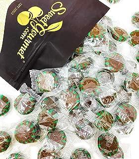 SweetGourmet Chocolate Mint Starlight | Clear Wrap Bulk Hard Candy | 2 pounds