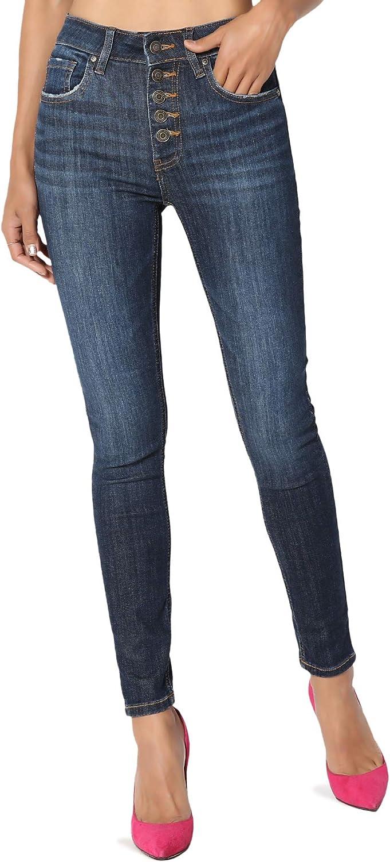 TheMogan 5 ☆ very popular Vintage Distressed Washed Skinny Jeans Max 42% OFF Stretch Denim