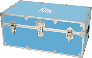 Rhino Large Sticker Trunk w/Personalized Monogram (Sky Blue)