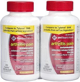 Member's Mark 650 mg Arthritis Pain Tablets (200 ct., 2 pk.)