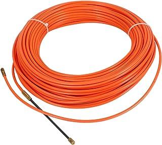 Bopfimer 4Mm 40 MèTres De Dispositif De Guidage Orange En Nylon De Cable éLectrique Push Pullers Duct Snake Rodder Fish Ta...