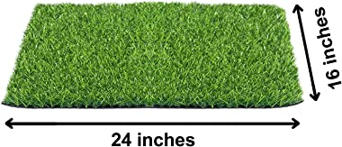 """Heart Home 45 MM Artificial Grass Mat for Balcony Or Doormat, Artificial Grass (16"""" X 24"""") Green-HEART11761, Standard"""