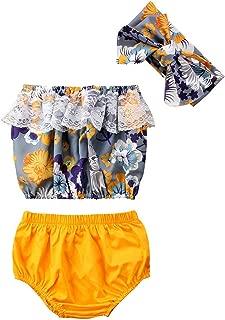 Vest Tops Shorts Headband Girl Clothing Headband 3Pcs Toddler Newborn Baby Girls Clothes
