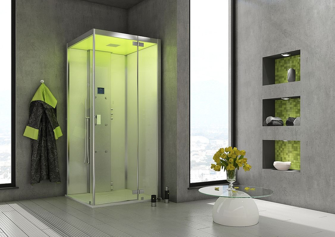 Baño Hoesch Vapor senseperience 120 x 100 Vapor ducha con ducha ...