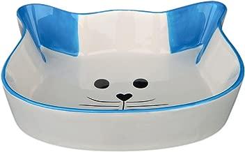 Ggdoo Taz/ón Comedero de cer/ámica para Mascotas con Estante de Madera Animal dom/éstico del alimentador del Agua Alimentos Antideslizante Cuenco de cer/ámica