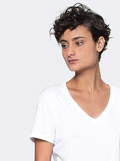 camiseta gola v pima