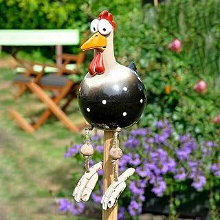 Funny Chicken Yard Art, Resin Rooster Outdoor Statues Decorative Garden Stakes Resin Chicken Sculptures Statues Outdoor Ga...