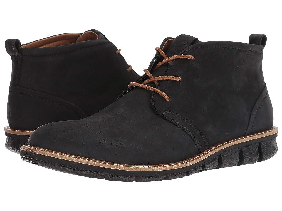 ECCO Jeremy Hybrid Boot (Black Nubuck Leather) Men