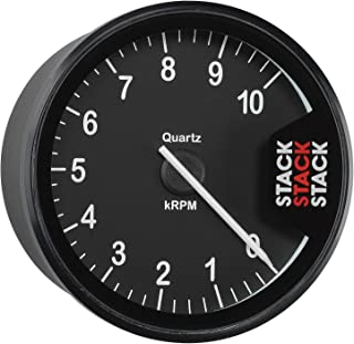Stack ST200-010 Clubman Black 80mm 0-10k RPM Tachometer