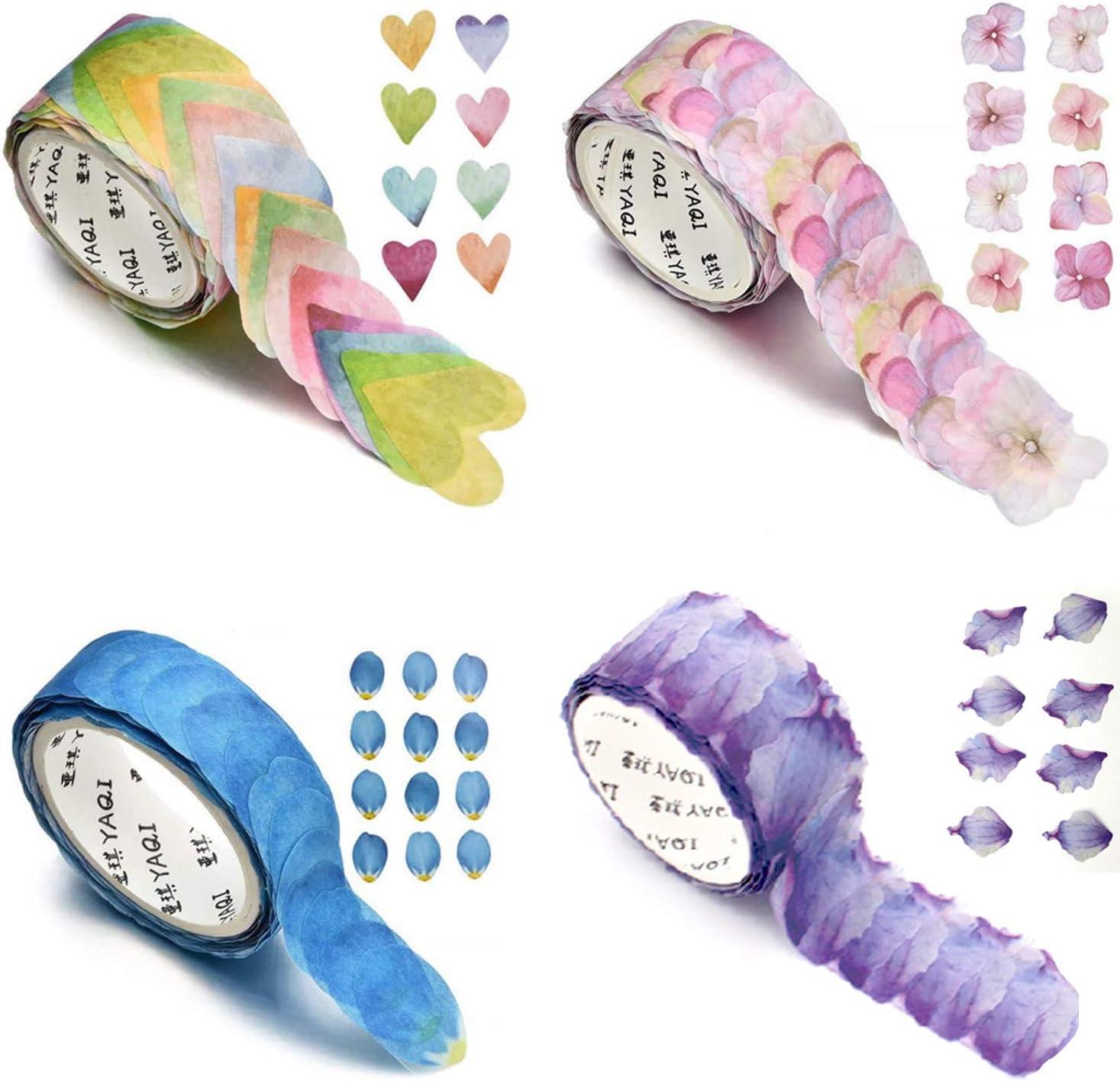 4 Roll Creative Flower Petal Tape Max 87% OFF Masking Free Shipping Cheap Bargain Gift Decorative Washi