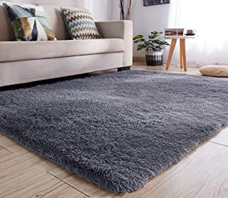 YJ.GWL Soft Shaggy Area Rugs for Bedroom Kids Room Children Playroom Non-Slip Living Room..