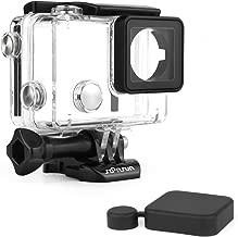 SOONSUN Standard Waterproof Dive Housing Case for GoPro Hero 4 Hero 3+ Hero 3 Hero4 Hero3 Camera with Waterproof BacPac Backdoor and Silicone Lens Cap - Underwater 40 Meters