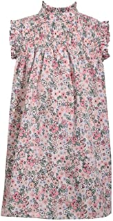 Sleeveless Floral Print Float Dress with Smocked Chest Panel