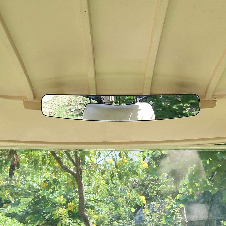 Rear View Mirror,World 9.99 Mall 16.5  Extra Wide 180 Degree Panoramic Generic of EZGO Yamaha Rear View Mirror Black Mirror (Black)