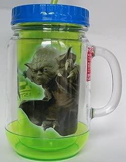 Star Wars Yoda Jedi Master 18 Oz. Mason Jar-style Travel Cup