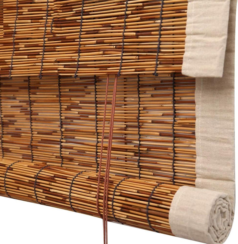 a precios asequibles GDMING-Persiana de bambú bambú bambú Enrollable Cortina De Romana Ciega Bordes De Tela Impermeable Projoector Solar Pesado Durable 3 Estilos Personalización De Múltiples Tamaos. (Color   A, Talla   100x180cm)  100% precio garantizado