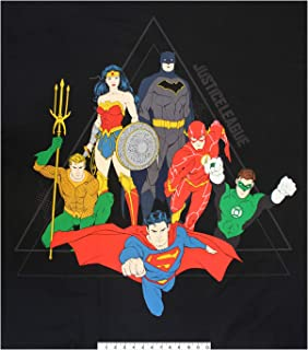 Camelot Fabrics DC Justice League Activated Justice League Pyramid 36'' Panel Black
