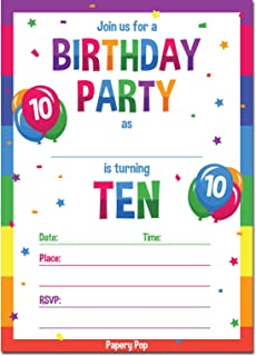 Best birthday invitation 10 years old Reviews