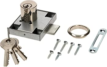 KOTARBAU Meubelslot 45x56 mm schroefslot links met 3 sleutels cilinder-meubelslot kastslot slot slot ladeslot