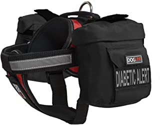 Dogline Unimax Multi-Purpose Vest Harness for Dogs with 2 Removable Diabetic Alert Patches and 2 Removable Side Utility Bags