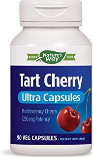 Enzymatic Therapy Tart Cherry Ultra Vegetarian Capsules, 1,200 mg per serving, 90 Count