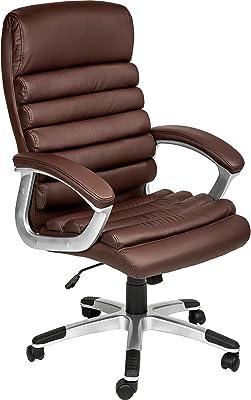 TecTake Silla de oficina sillon de despacho ejecutivo con reposabrazos - disponible en diferentes colores -