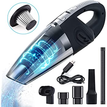 Wolfteeth Car Vacuum Cleaner, DC 9V 120W Cyclonic Suction