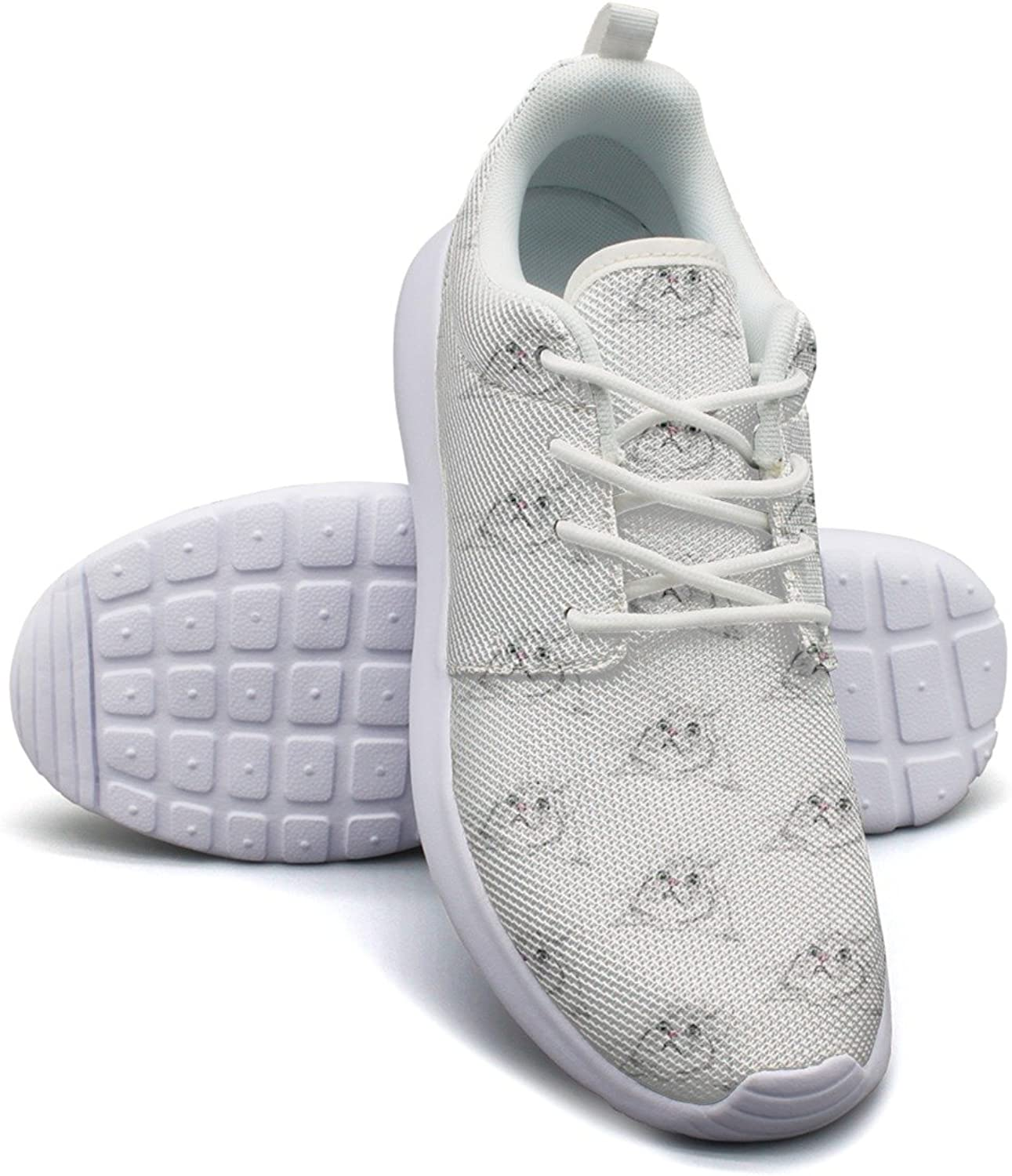 Surprised Cute Cat Face White Background Women's Lightweight Mesh Basketball Sneakers Comfortable Walking shoes