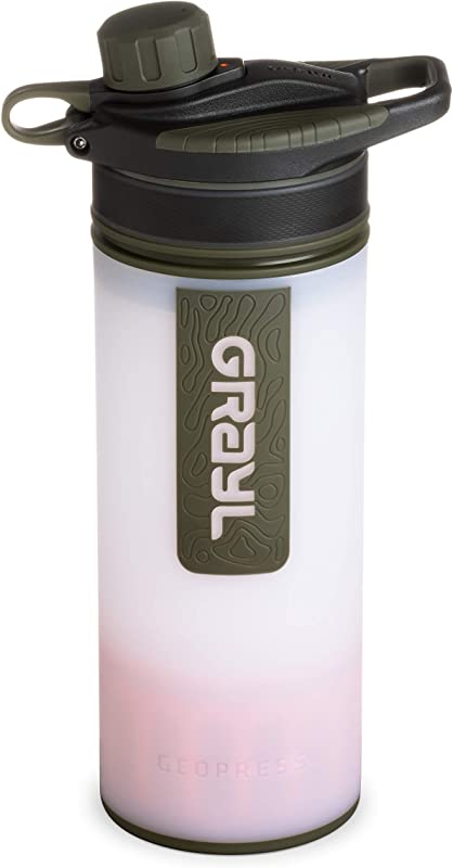 GRAYL Geopress 24 Oz Water Purifier For Global Travel Backpacking Hiking And Survival