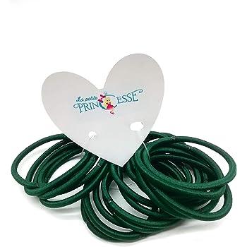 12 BOTTLE GREEN  4MM SNAG FREE HAIR BOBBLES ELASTICS HAIR BANDS SCHOOL