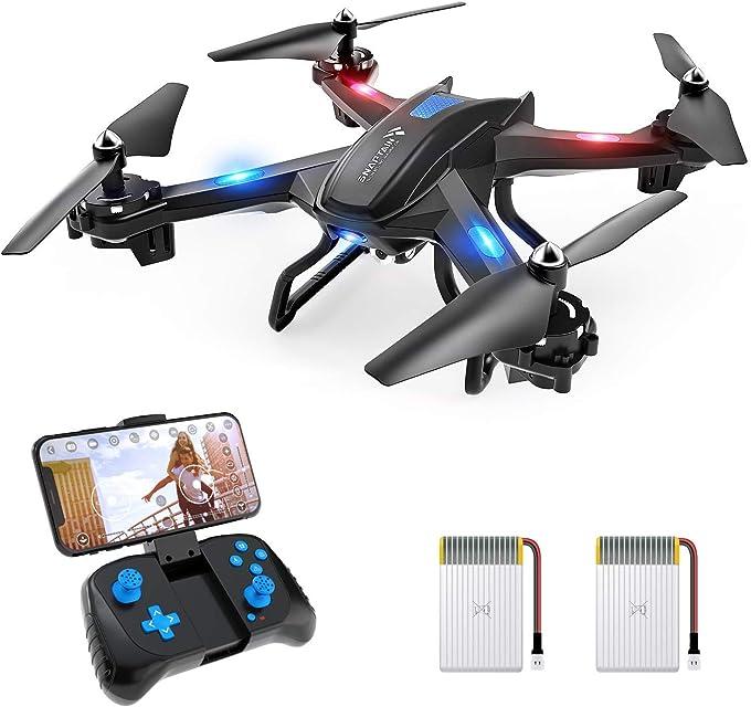 SNAPTAIN S5C Drone con Cámara 720P HD Avión WiFi FPV por Control Remoto Control de Voz Control de Gestos Quadcopter Helicóptero con Headless Modo Altitud Hold G-Sensor Modo Órbita 3D Flip