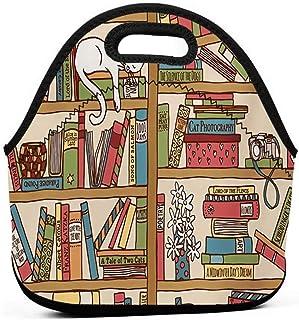 キッズ大人断熱弁当ポーチポータブルキャリートートピクニックストレージバッグランチボックスフードバッググルメハンドバッグオタク本恋人キティ図書館のポーチトートバッグ学校用