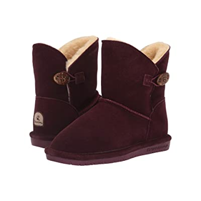 Bearpaw Kids Rosie (Little Kid/Big Kid) (Wine) Girls Shoes
