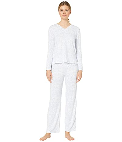 Carole Hochman Dreamy Sweater Knit Pajama Set (Blue Floral) Women
