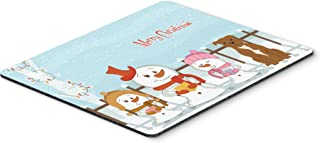 Caroline's Treasures Merry Christmas Staffordshire Brown Mouse Pad,  Multicolor, 7.75x9.25 (BB2378MP)