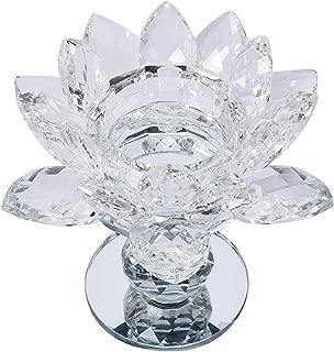 Shop LC Delivering Joy White 2 Ball Base Lotus Crystal Candle Holder