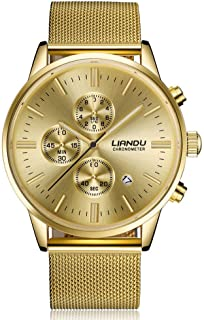 Unisex Quartz Watch, VANSOON Fashion Women Men Simple Stainless Steel Analog Quartz Wrist Watch Business Watch Dress Watches for Teen Girls Bracelet Watch Clearance