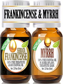 Frankincense and Myrrh Essential Oil Combo Pack 100% Pure, Best Therapeutic Grade Essential Oil - 2/10ml