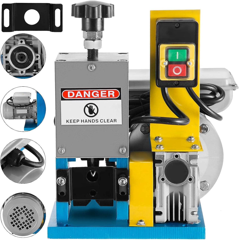 VEVOR Máquina Peladora de Cables Automática 220V Máquina Pelacable Industrial 1.5mm - 25mm para Varios Tipos de Cable Redondo y Cable Plano con Cubierta (Máquina de Pelacable)
